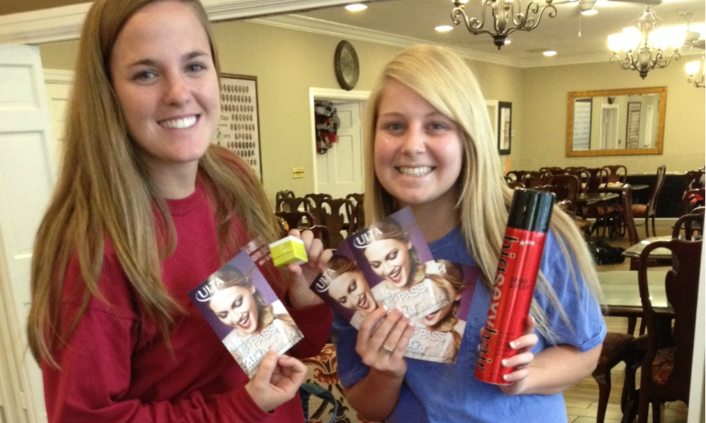 Sampling and Flyering at the University of Georgia sororities for Ulta